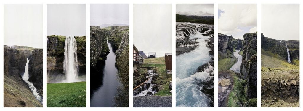 Iceland collage of water scenes